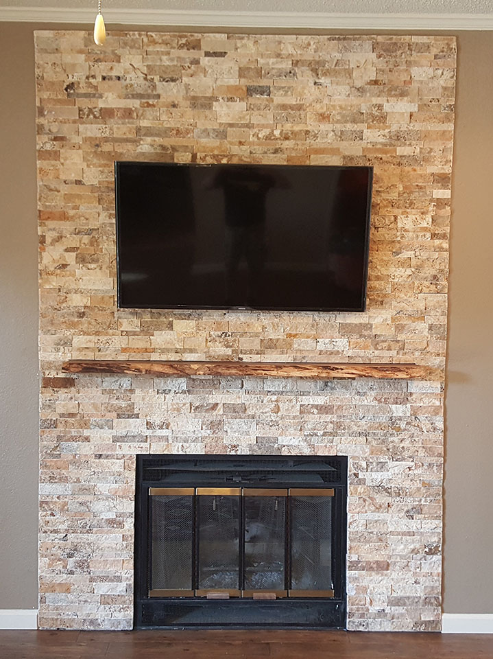 Custom Mantle Installation